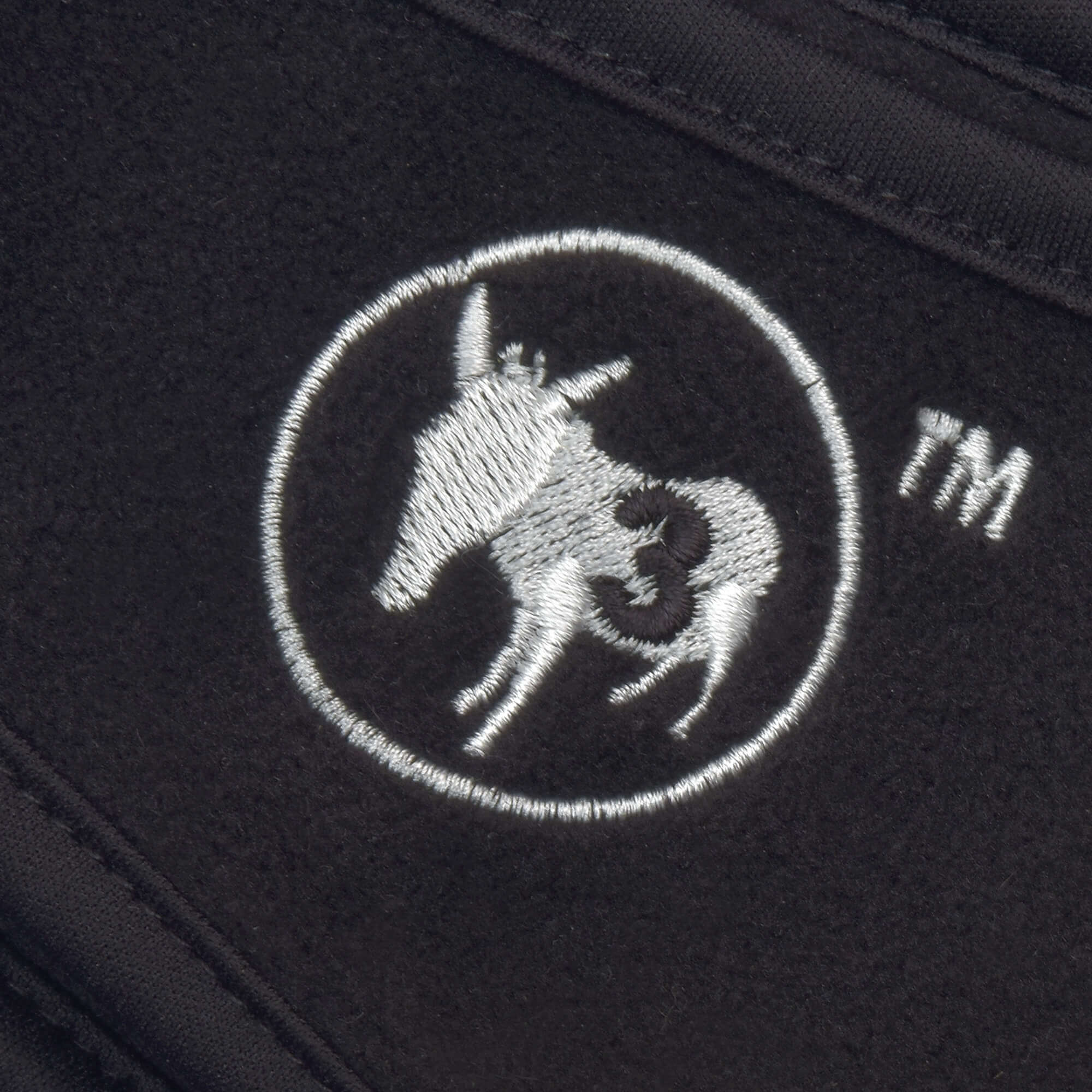 3 donkeys logo in black background and white logo of 3 donkeys