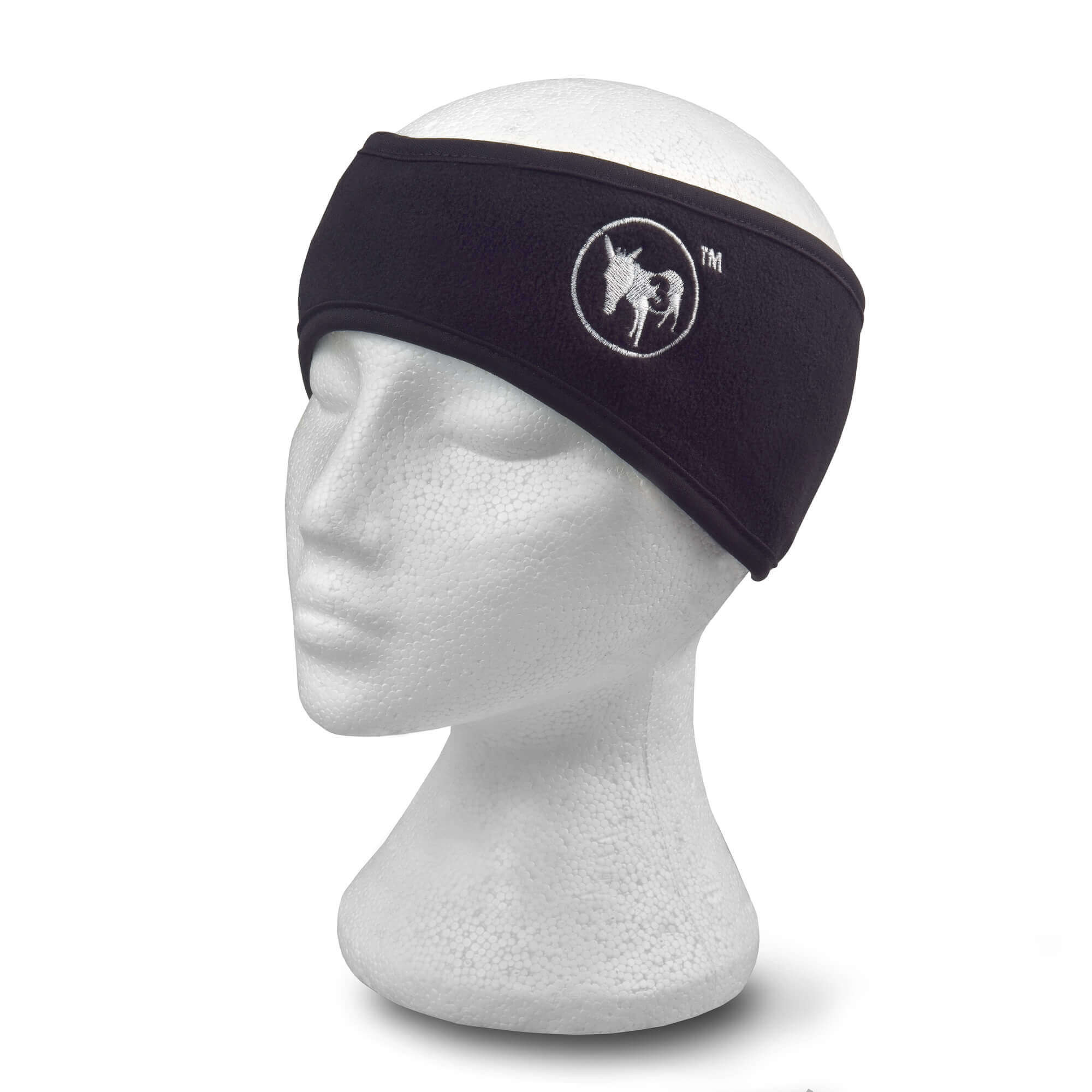 black headband on white head dummy